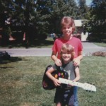 Danny as child with guitar